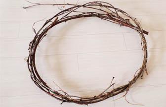 branches arbre bois, fil de fer, créer panier nid bois