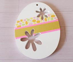 bel oeufs en bois à customiser pâques, masking tape coloré diy