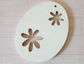 petit oeufs en bois à customiser, peinture blanc pébéo