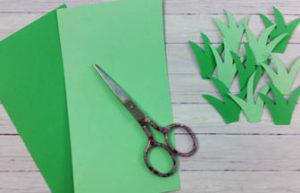 creer de lherbe avec du carton vert et vert clair