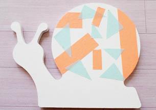 escargot bois à customiser, peinture blanc, déco masking tape