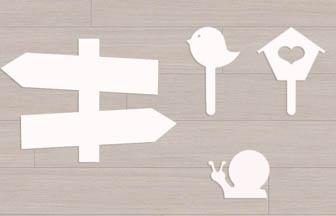 formes en bois décoration, customisation peinture blanc