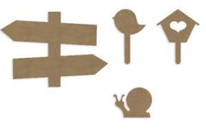 forme en bois à customiser, panneau signalétique, printemps diy