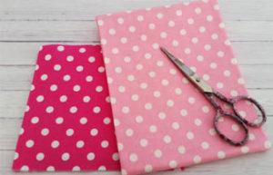 tissu rose fushia et rose bonbon a poids