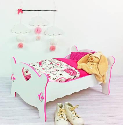 lit simple de poupée à customiser et à monter pour doudou