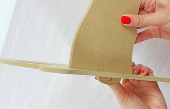 lit simple poupée bois à customiser, montage simple, sans colle