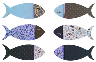 sardines petites tailel bois à customiser, peinture, tissu, pocsa diy