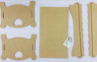forme en bois à customiser, lit simple poupée