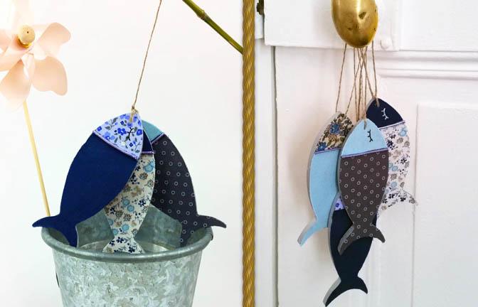 petites sardines bois à customiser, déco poignet porte, porte clé