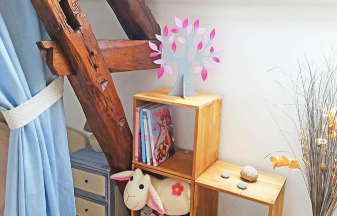 forme bois arbre 3d pommier à customiser, décoration intérieur
