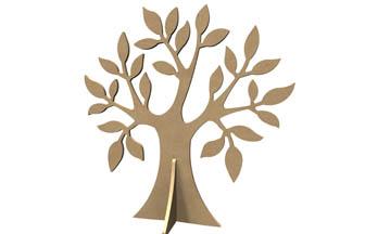 arbre en bois 3D pommier à customiser, gomille diy