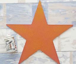 déco diy bombe paillette or pébéo étoile bois star à customiser