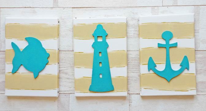 do it yourself, décoration formes bois à customiser, châssis, salle de bain