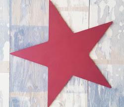 étoile bois star à customiser, peinture pébéo violet, hollywwod