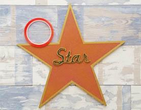 décoration diy étoile star en bois à customiser, cinéma