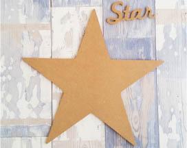 grande étoile + star en bois à customiser, déco cinéma