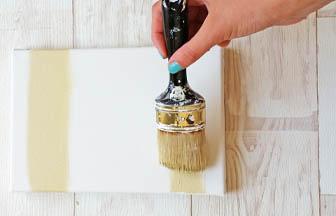 châssis à customiser, déco peinture beige pébéo ligne