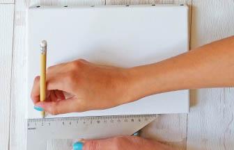 déco châssis, crayon papier, ligne avant peinture
