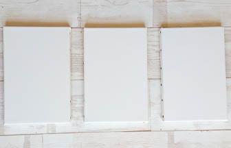 petit châssis à customiser pour salle de bain, forme en bois