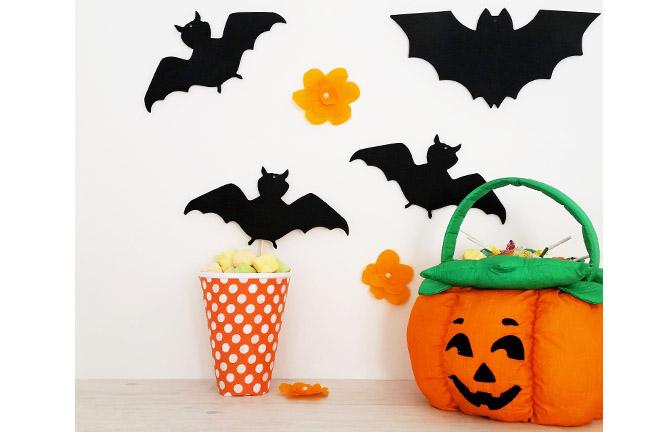 formes en bois à customiser Halloween, chauves souris, batman diy