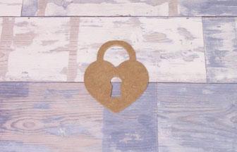 petit cadenas coeur en bois à customiser diy