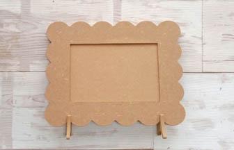 cadre photo beurre à customiser en bois, loisirs créatifs