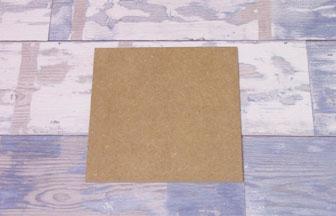 carré moyen à customiser en bois, géométrie