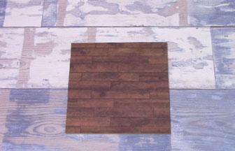 moyen carré en bois à customiser, décoration diy papier parquet marron