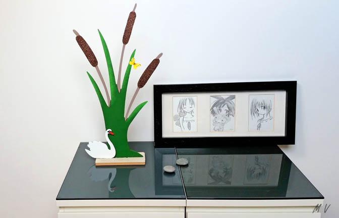 décoration supports bois roseau à poser et signe à décorer, diy nature