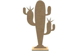 cactus en bois à customiser, porte bijoux, été, moderne, tendance