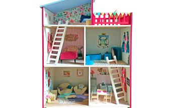 meuble maison de poupe en bois à customiser, diy, jouet, figurines