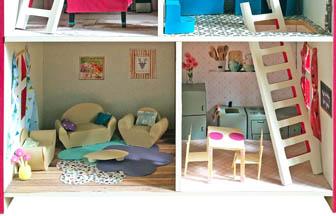 maison à customiser en bois, loisirs créatifs, poupée, figurines, meuble, jouets