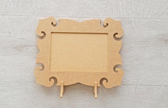 cadre photo baroque en bois à customiser