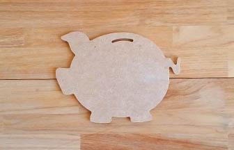 cochon tirelire en bois à customiser