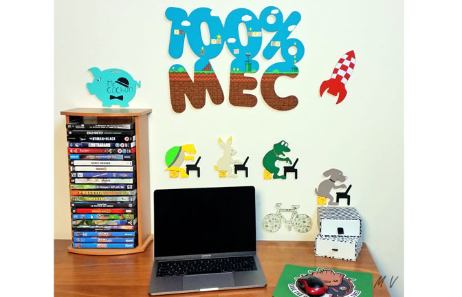 supports bois à customiser, déco geek, jeux vidéo, mario, 100% mec