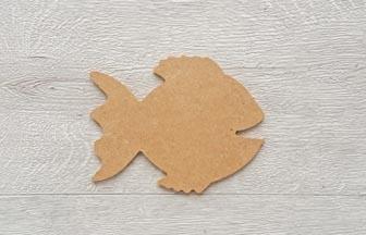 beau poisson en bois à customiser, déco mer