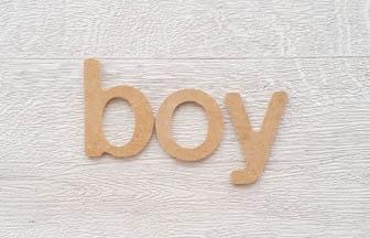 lettres 5cm minuscules en bois à customiser boy prénom plaque porte