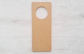 plaque poignet de porte rectangle en bois à customiser, déco chambre enfant