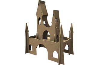très beau château de princesse en bois à customiser, chambre enfant jouets