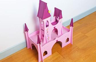 château en bois à customiser pour princesse et figurines, jouets enfants
