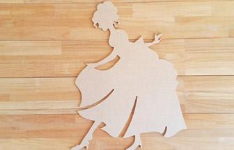 grande princesse à customiser en bois pour une chambre