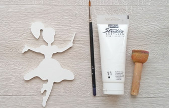 fée baguette petite en bois à customiser, déco peinture blanc