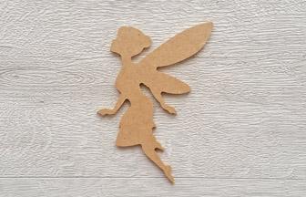 petite fée chignon à décorer en bois pour une chambre
