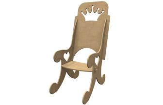 chaise de princesse en bois pour poupée à customiser