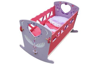 lit de poupée à bascule en bois à customiser, petit meuble