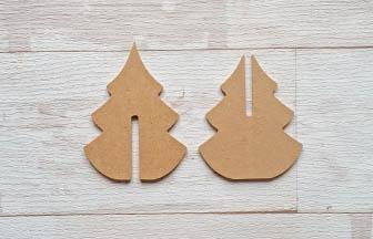 petit sapin en bois 3d à décorer pour votre décoration de noël