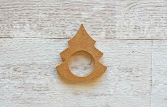 décoration de noël à customiser, rond serviette sapin en bois