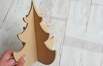 sapin arabesque moyen 3D en bois à customiser loisirs créatifs