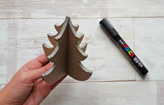 décoration argenté posca tranches sapin 3d arabesque en bois