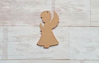 petit ange qui prie en bois à customiser